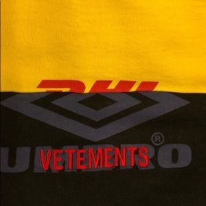 VETEMENTS X DHL X UMBRO LIMITED EDITION HOODIE